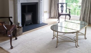 A contemporary Feraghan carpet in a Gloucestershire home