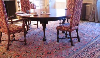 Antique Tabriz carpet in a Dorset 17th century listed manor house