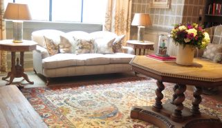 Striking Tabriz carpet in a London Soho hotel